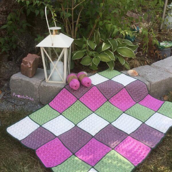 Frostvirka - A scent of lilac filt - Tilda Cotton Eco - 10618-027A - Bild 01