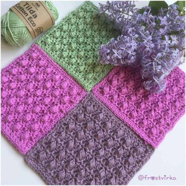 Frostvirka - A scent of lilac filt - Tilda Cotton Eco - 10618-027A - Bild 04