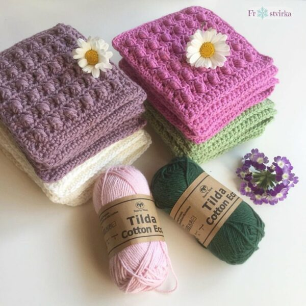 Frostvirka - A scent of lilac filt - Tilda Cotton Eco - 10618-027A - Bild 06