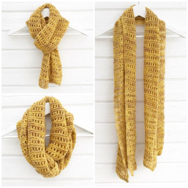 Honeybee scarf-Pysselofix-Spirit 10818-029B_Bild_01