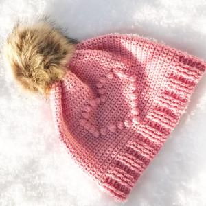 Pysselofix - Bobble Heart Mössan - Merino Soft - 10818-019B - Bild_02