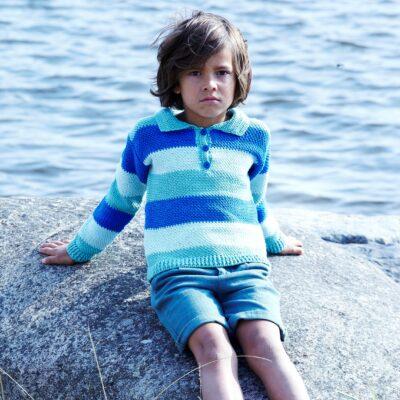 Virkad barntröja 2532 garn Tilda Svarta Fåret