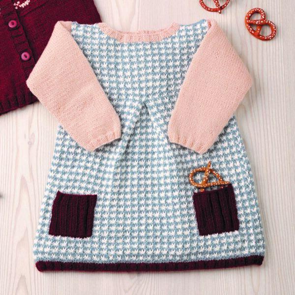 CLARA stickad klänning - Magasin Baby 86-46 - Katia Yarns MERINO BABY_kvadrat_01