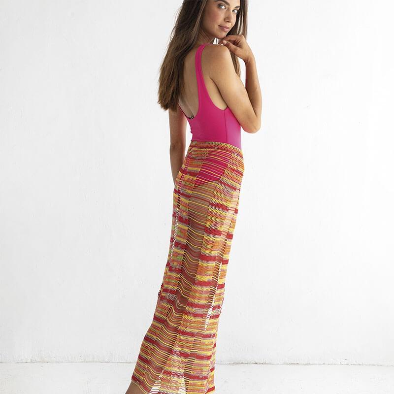 Virkad strandkjol ENYA - Jaipur Cake - Beach Wrap - Katia Yarns_Gicona