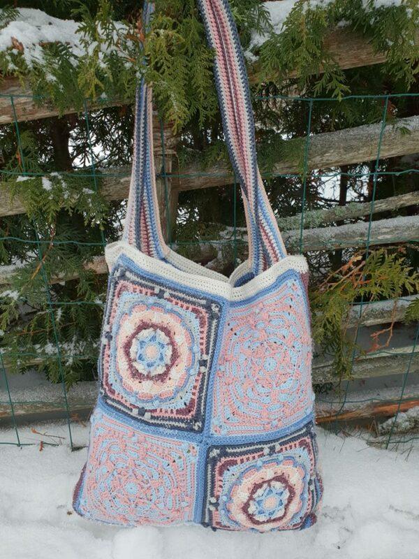 Frostvirka - Elora Bag - Catona Denim Rose - @gojjan_virkar - Bild 01