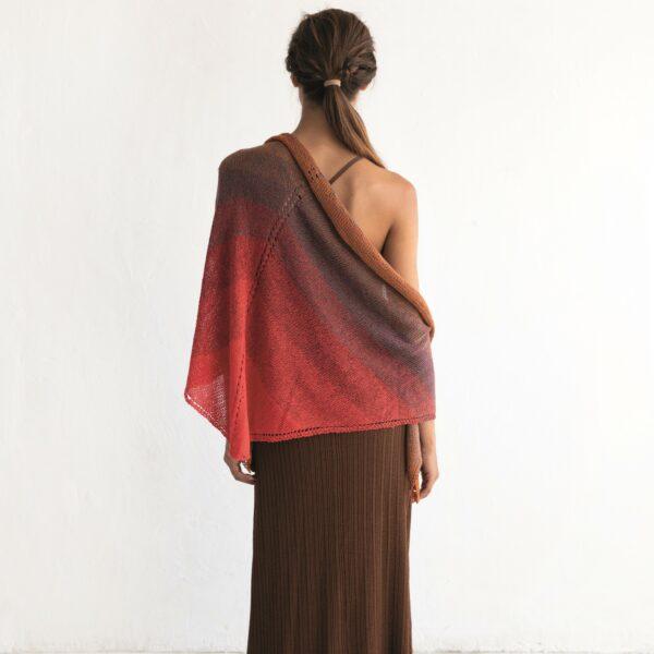 CELINA - Stickad sjal - Foulard Scarf Woman - 8029-476 - SILK DEGRADÉ_kvadrat_01