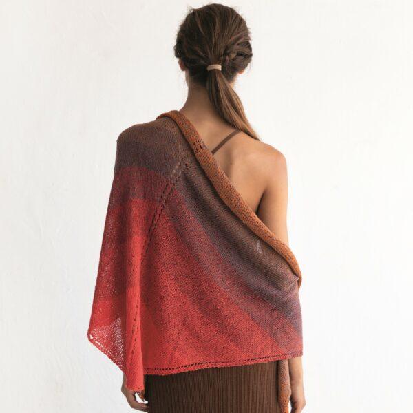 CELINA - Stickad sjal - Foulard Scarf Woman - 8029-476 - SILK DEGRADÉ_kvadrat_02