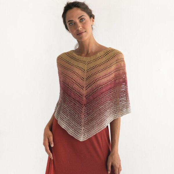 REBECCA - Virkad poncho - Poncho Woman 8029-478 - SILK DEGRADÉ_kvadrat_01