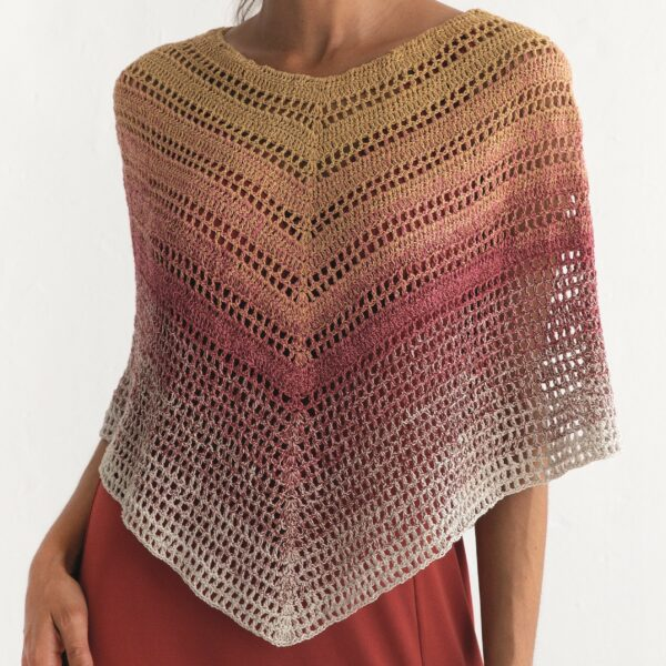 REBECCA - Virkad poncho - Poncho Woman 8029-478 - SILK DEGRADÉ_kvadrat_02