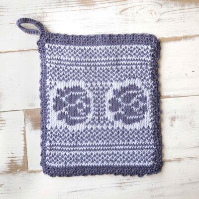 Viking Yarn knits patterns 1421-04. Yarn Spring. Knit pot.