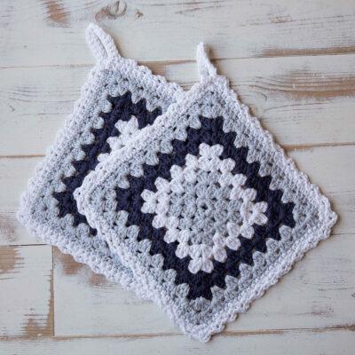 Viking Yarn crochet patterns 1421-21. Yarn Spring. Crocheted grandmother's pothole.