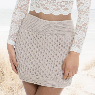 Viking Yarn knits patterns 1505-02. Yarn Spring. Knitted skirt for ladies.