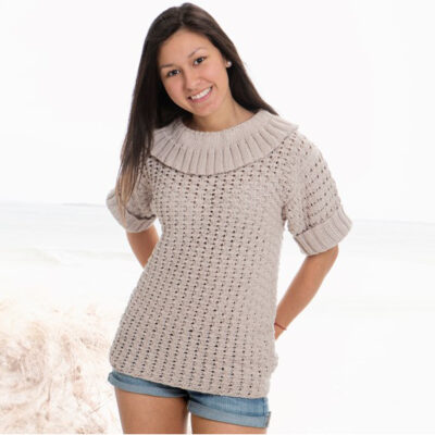 Viking Yarn knits patterns 1505-07. Yarn Spring. Knitted sweater for women.