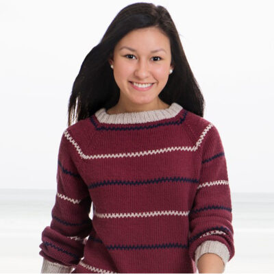 Viking Yarn knits patterns 1505-09. Yarn Spring. Knitted sweater for women.