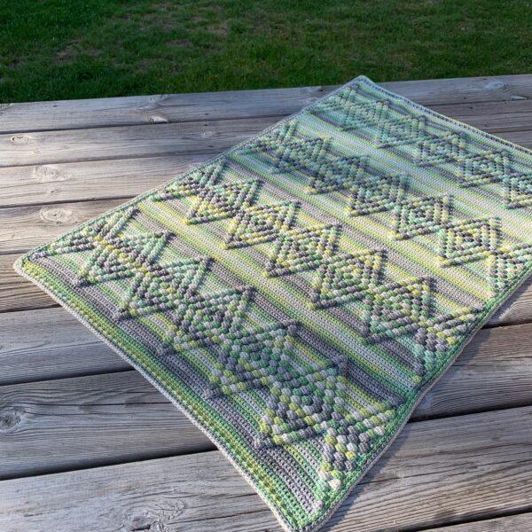 Diamond Baby Blanket - Bombay - Limell Design_01