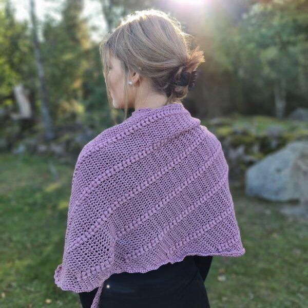 Katia Tence-Cotton - Heart puff shawl