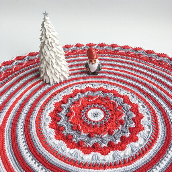 Christmas - Rose Mandala - Capri - Röd_01