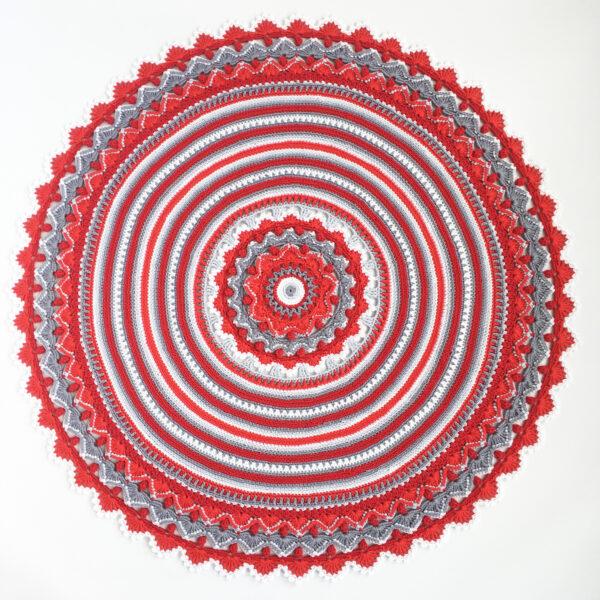 Christmas - Rose Mandala - Capri - Röd_04